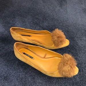 Zara Basic Flats with Pom Pom